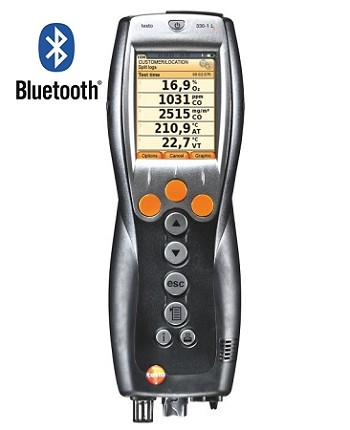 Testo 330-1G LL Kit #2 - Residential Analyzer Kit with Printer and Bluetooth