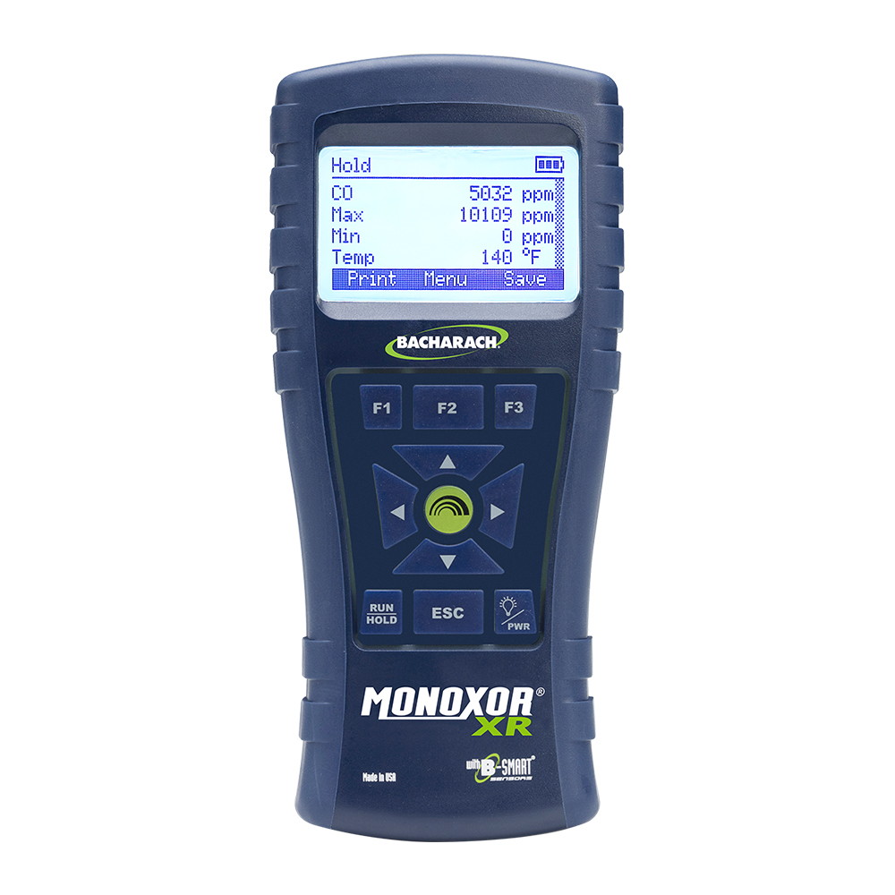 Bacharach 0019-8120 Monoxor XR High CO Analyzer w/ Standard Probe, Reporting Kit and Case