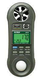 Extech Hygro-Thermo-Anemometer-Light Meter