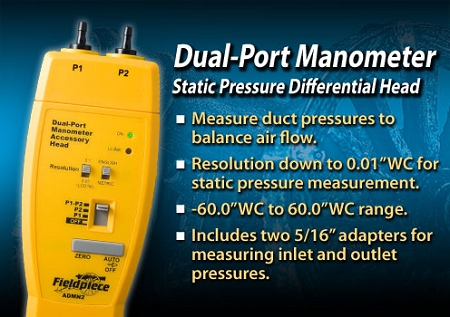 Dual-Port Manometer Accessory - ADMN2