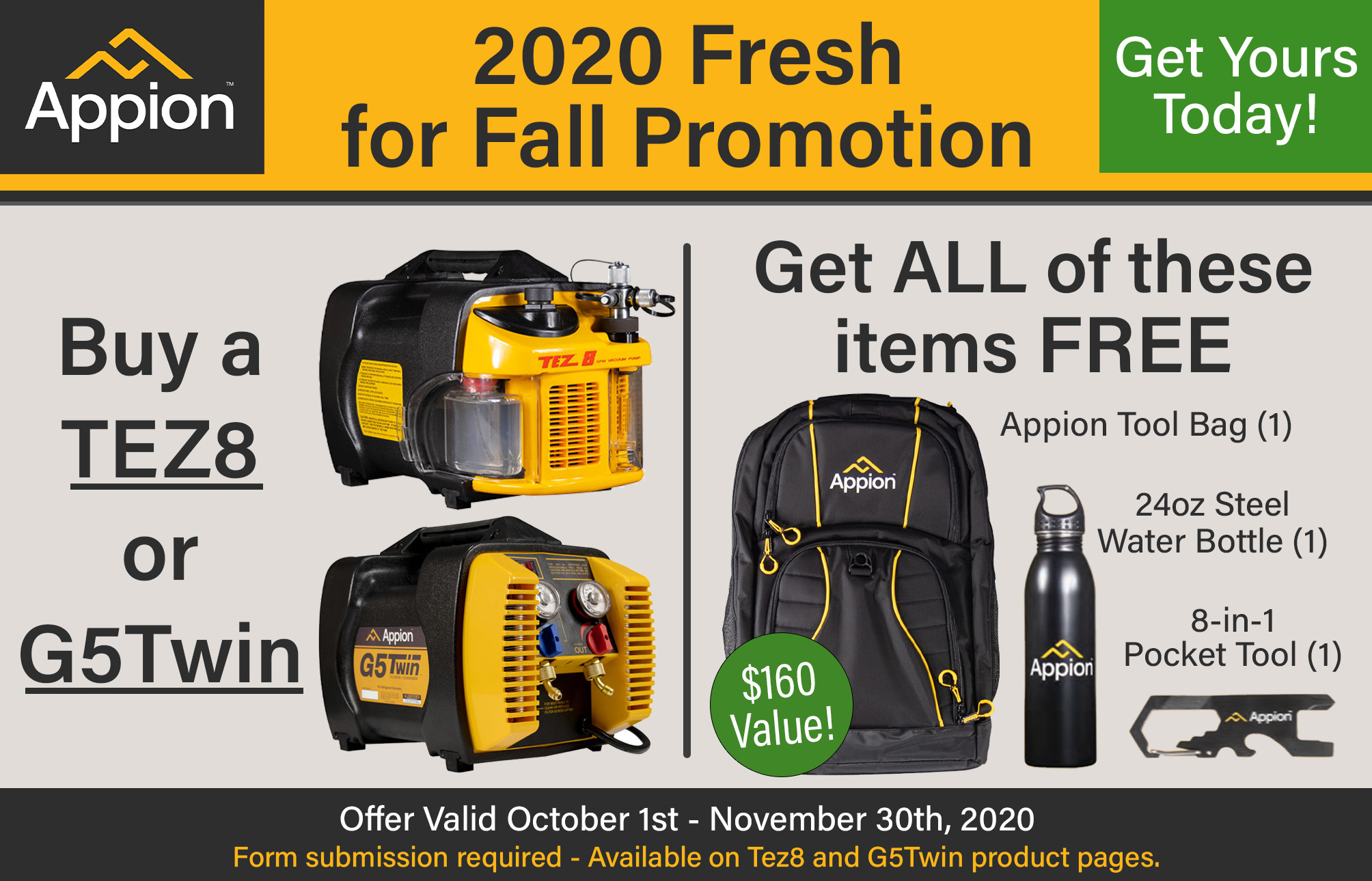 Appion Fall Promo