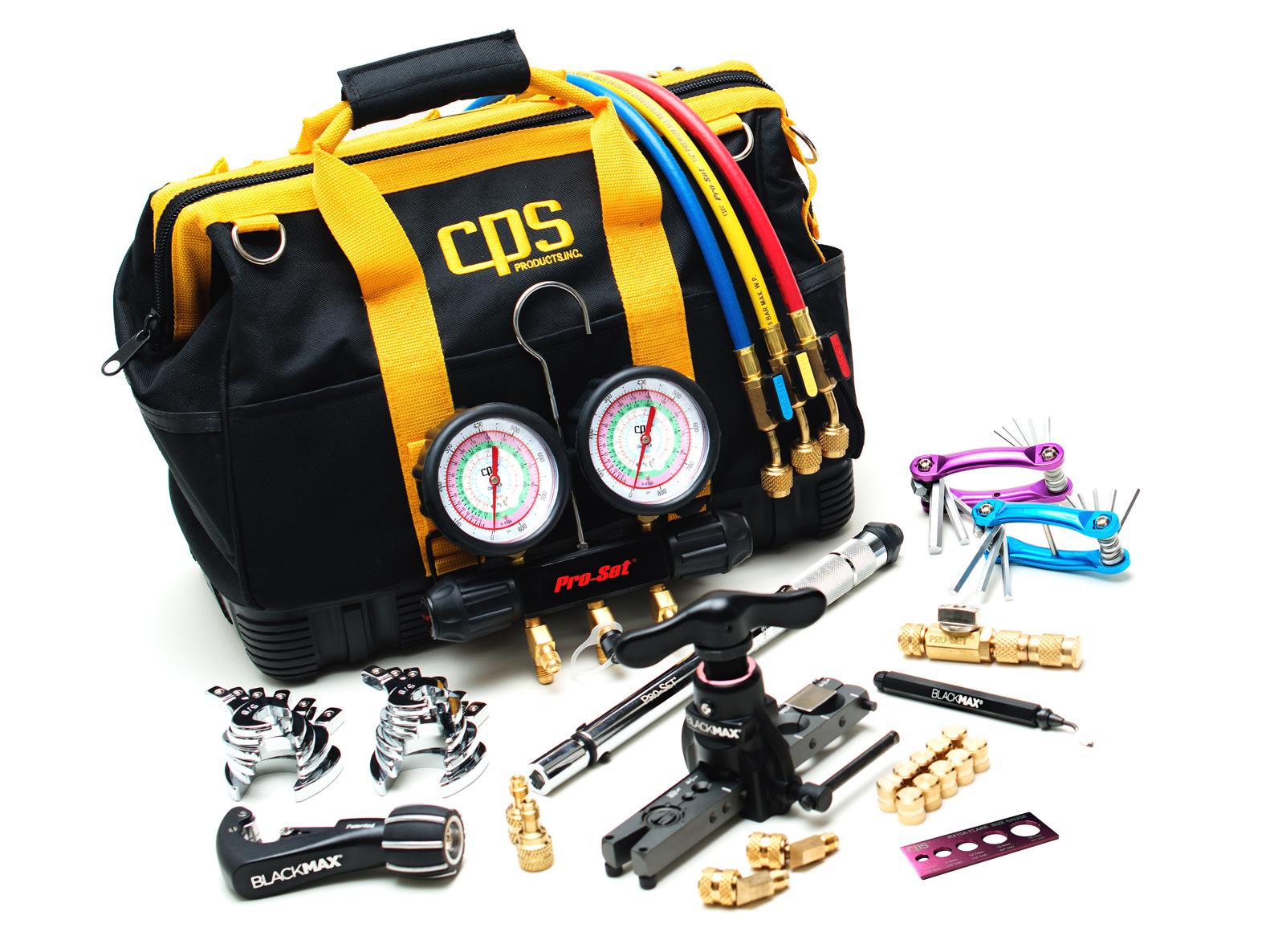 CPS TLB410KIT Mini-Split Tool Kits Deluxe Universal R410a Service Tool Kit with tools