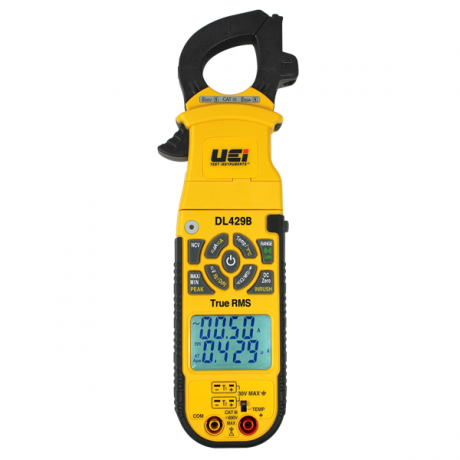 UEi DL429B True RMS Digital Clamp-On Meter w/ Wireless and Differential Temperature