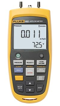 Fluke 922 Airflow Meter/Micromanometer Kit