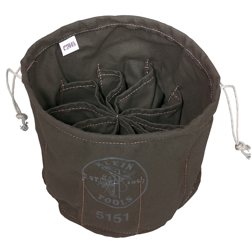 Klein Tools 5151 Ten-Compartment Drawstring Bag