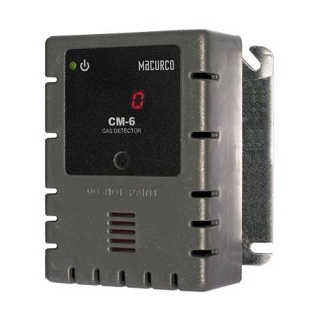 Macurco CM-6 Carbon Monoxide CO (Low Voltage) Fixed Gas Detector Controller Transducer