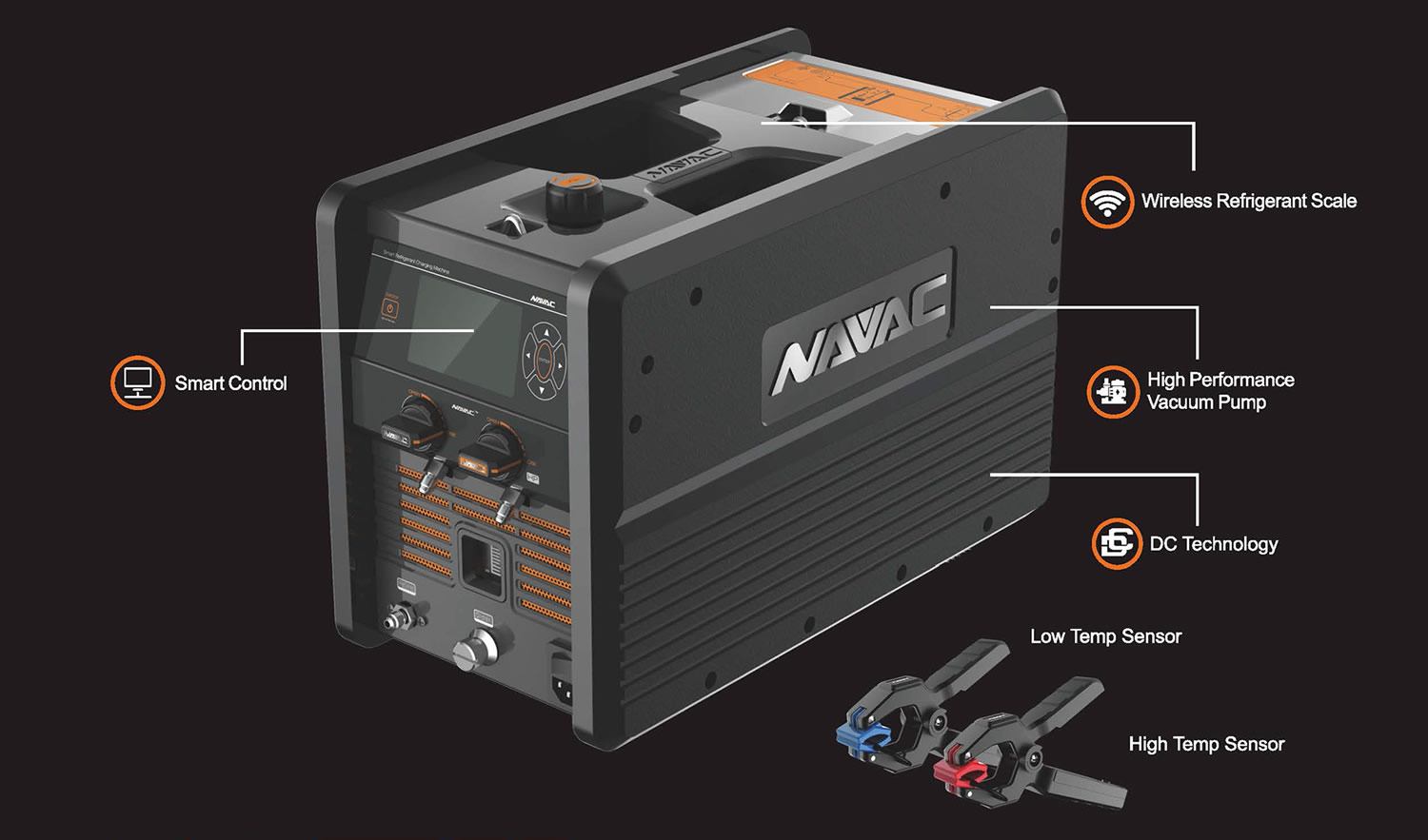 NAVAC NRC62D Smart Refrigerant Charging Machine