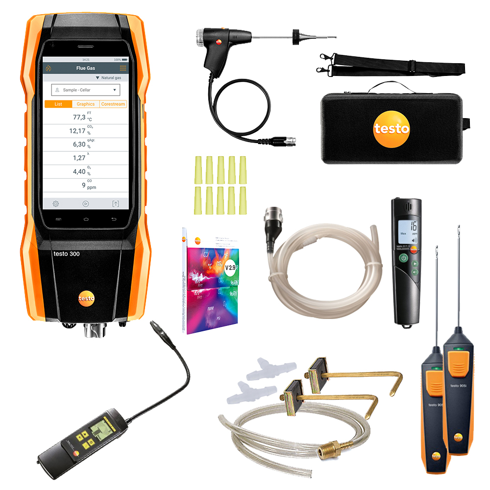 Testo Tune & Check Combustion Kit by TruTech Tools
