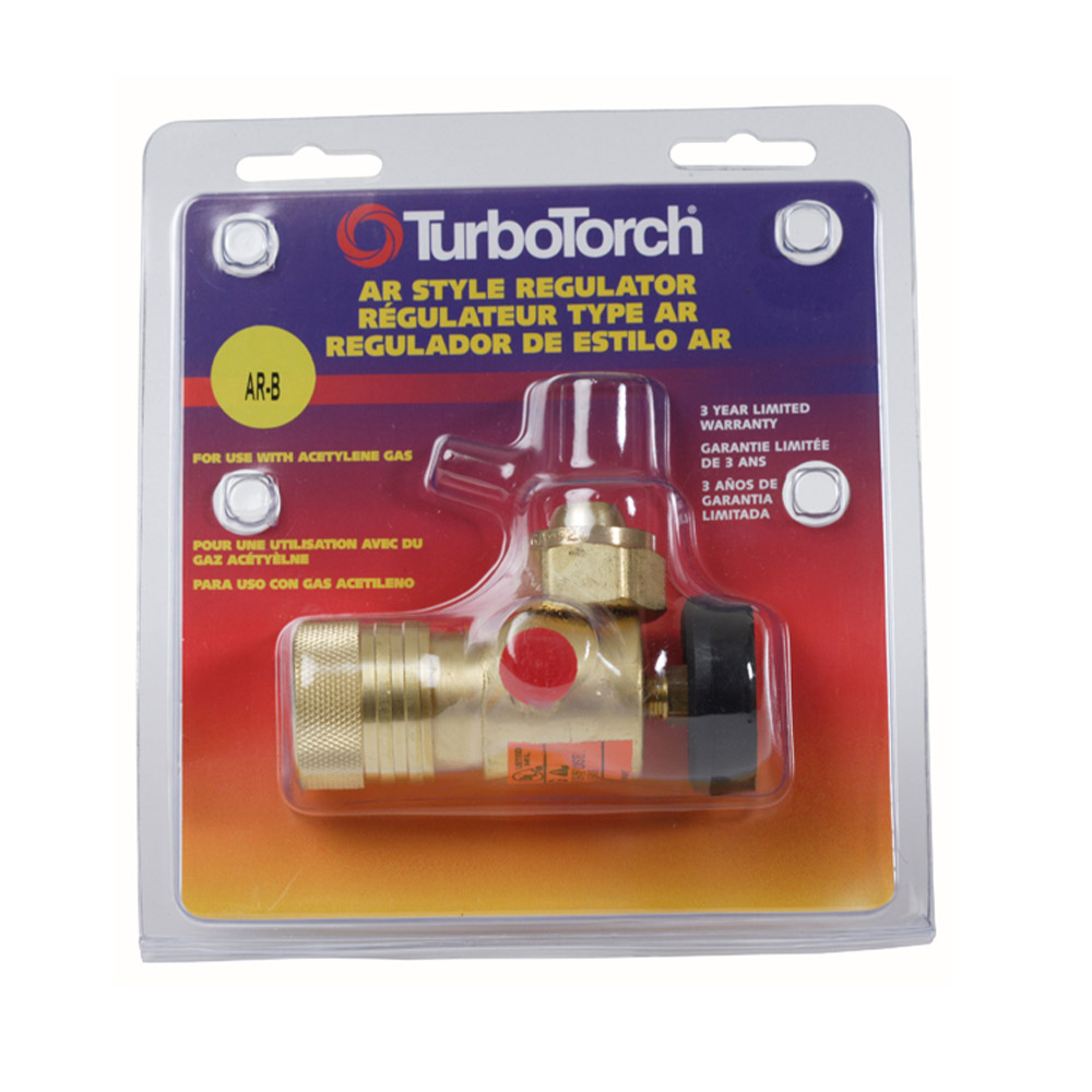 Victor Model AR-B TurboTorch Medium Duty Acetylene Single Stage Regulator, CGA-520
