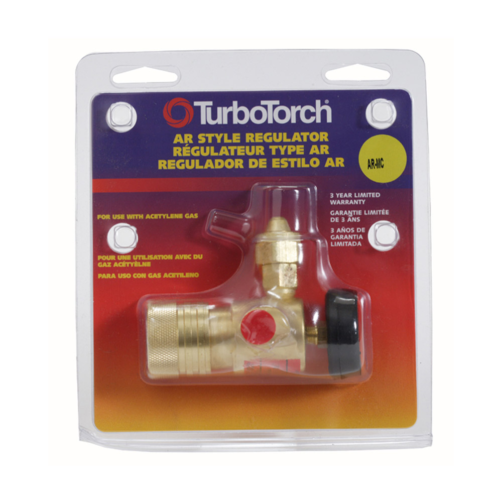 Victor Model AR-MC TurboTorch Medium Duty Acetylene Single Stage Regulator, CGA-200