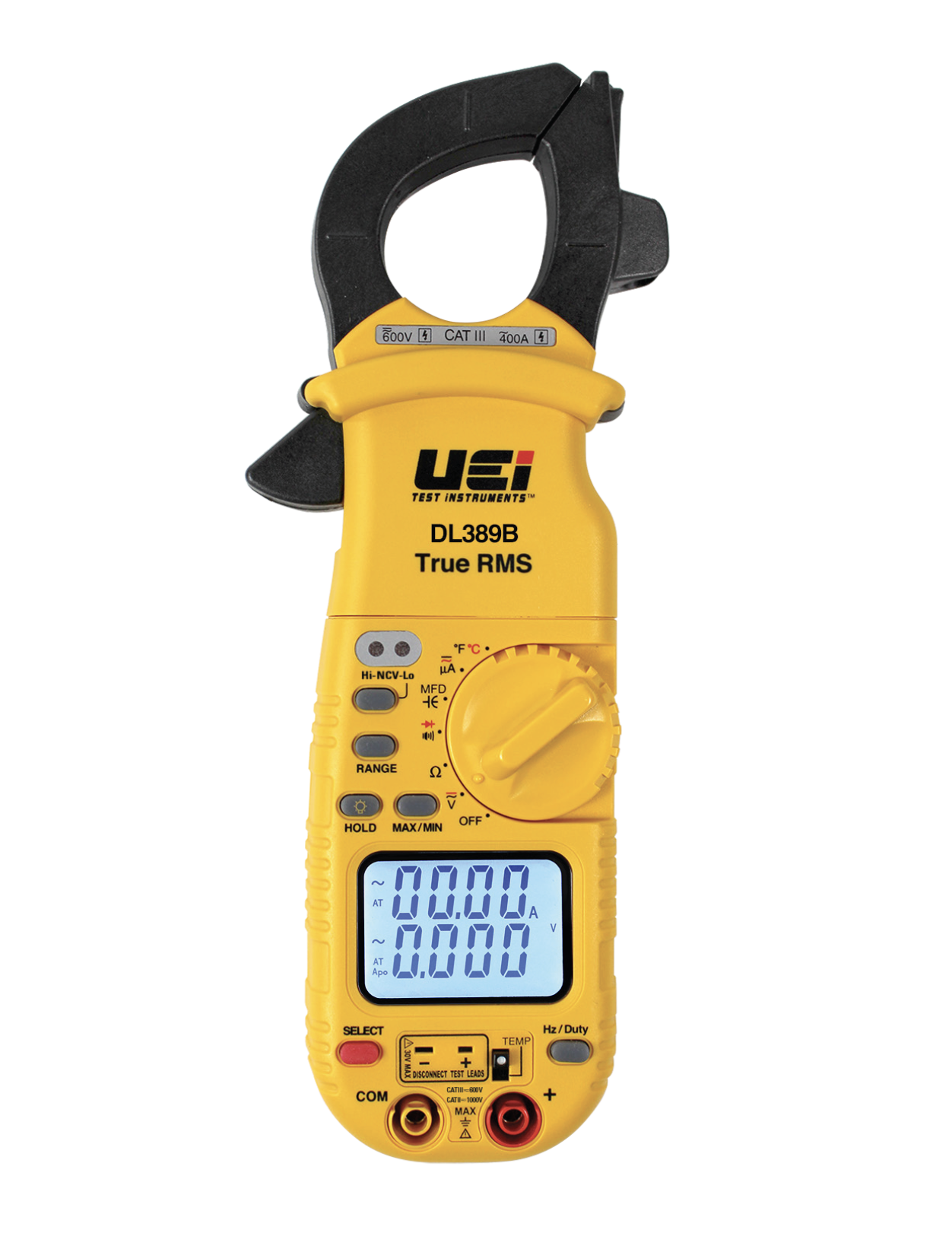 UEi DL389B True RMS Dual Display Clamp Meter with Temperature