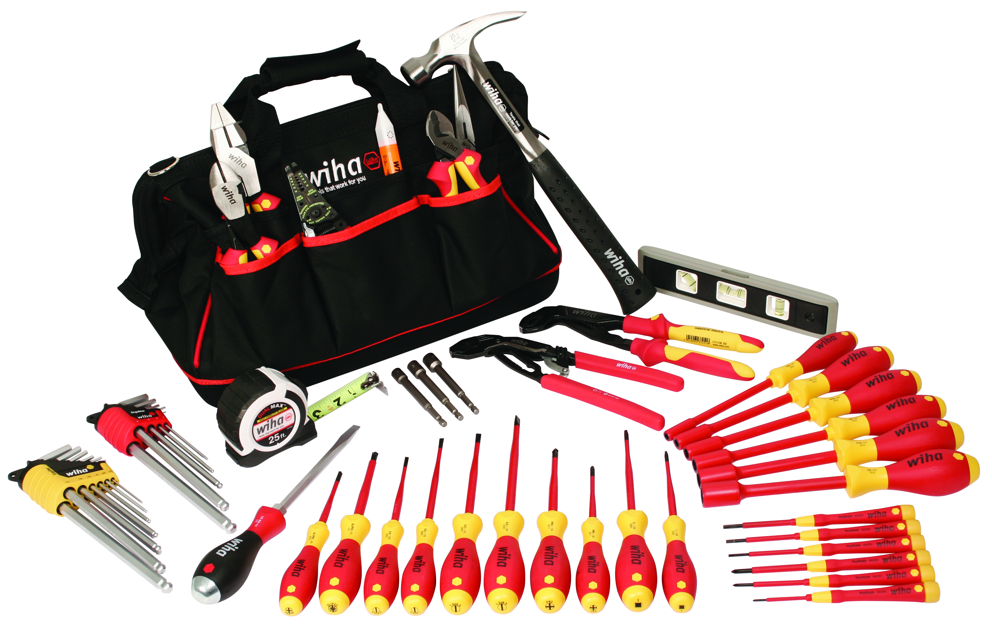 Wiha 32937 Insulated Master Electrician's Set 59Pc