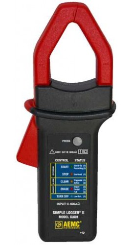 AEMC CL601 Simple Logger II TRMS Clamp Meter - 0 to 600A