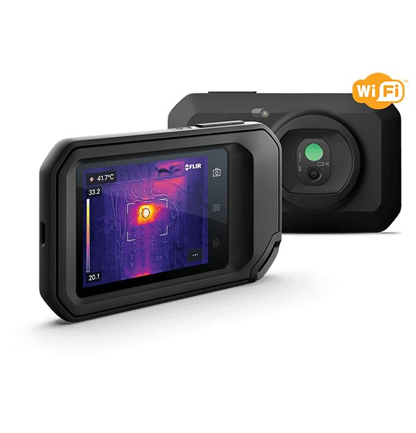 FLIR C3-X Compact Thermal Imaging Camera with Cloud Connectivity and Wi-Fi