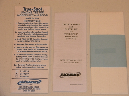 Bacharach Filter Paper Sheets for TRUE Spot Smoke Test Set