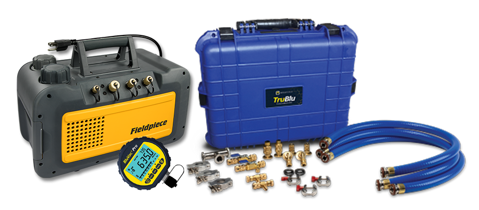 Fieldpiece VP85 and TruBlu Professional Evacuation Kit by TruTech Tools