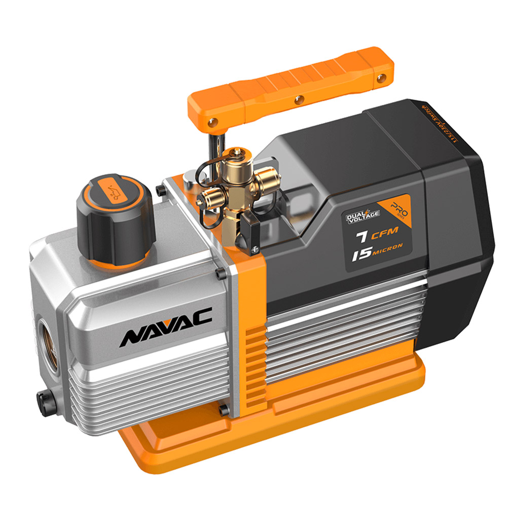 NAVAC NP7DP Dual Stage Dual Voltage 7CFM Vacuum Pump