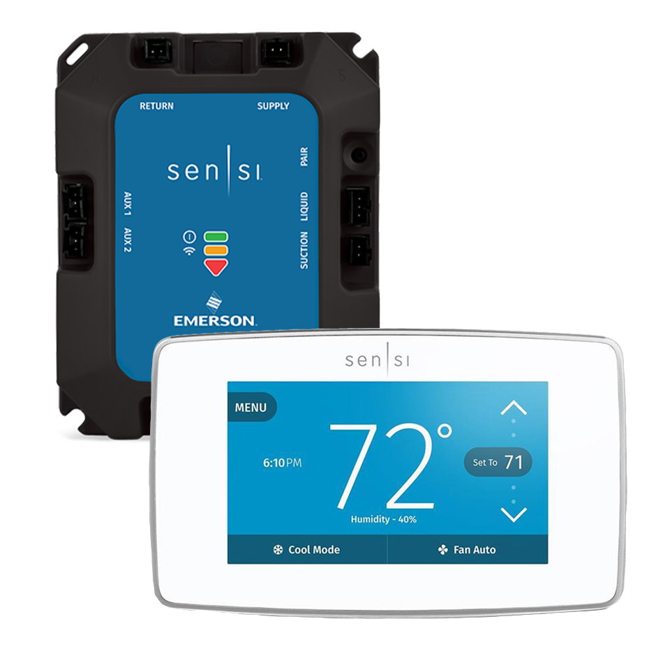 Sensi Predict HVAC Monitoring Kit by Emerson with Smart Thermostat - White
