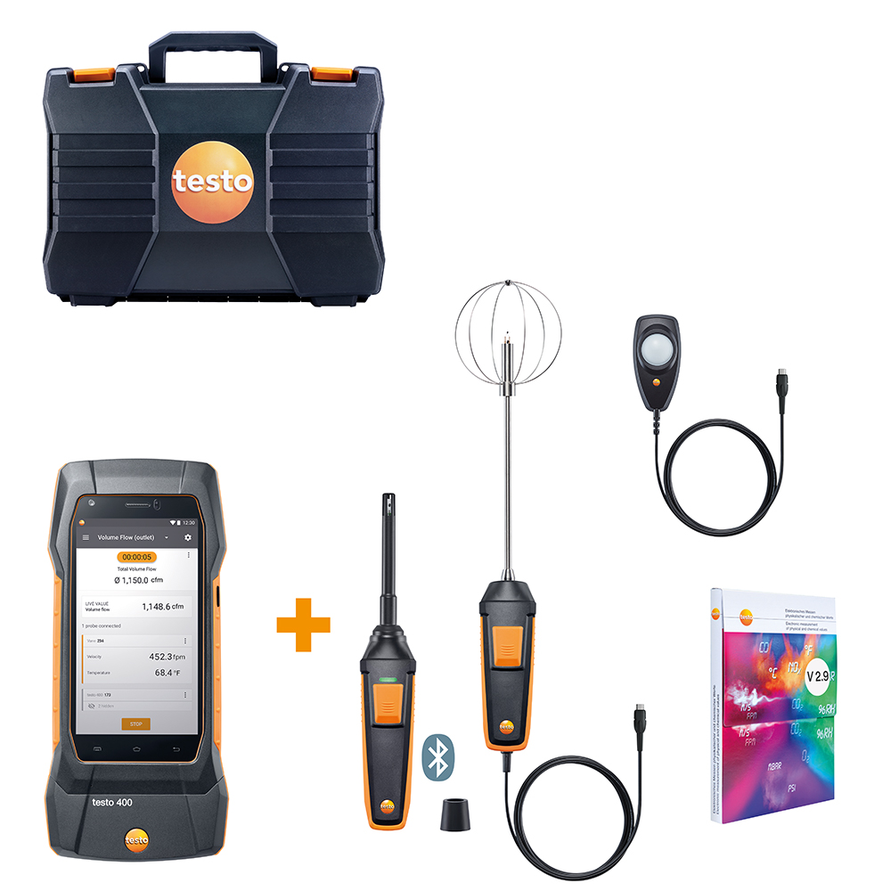 Testo 400 Comfort Kit - For Comfort Professionals in High Performance Buildings