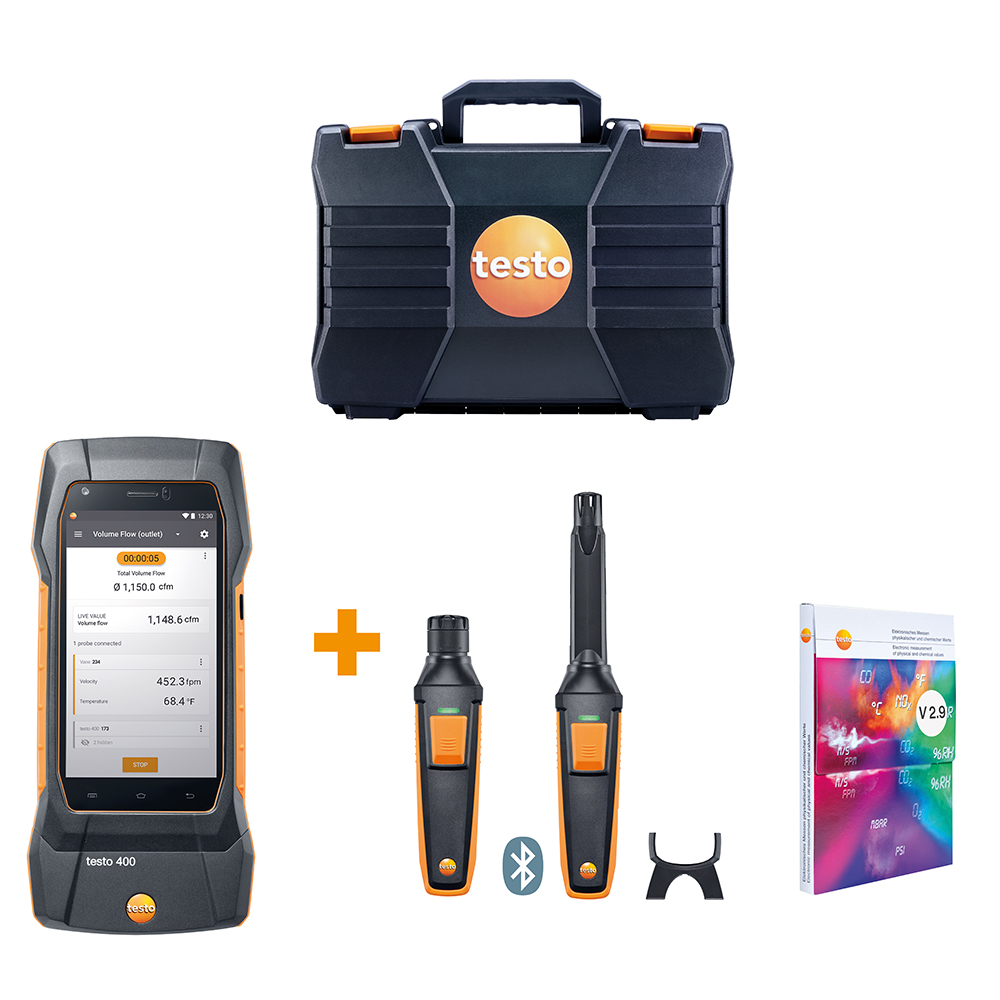 Testo 400 IAQ Kit - For Commissioning and IAQ Investigation Professionals