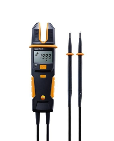 Testo 755-1 Current / Voltage Meter with 200 A AC, 600 V AC/DC, and Continuity