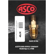 ASCO 40JX Propane Tank to Hose Adapter with Excess Flow