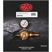 ASCO 567PG High Pressure Propane Regulator w/Pressure Gauge
