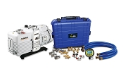 Industrial Rapid Evacuation Kit with NAVAC 12 CFM Vacuum Pump and TruBlu Hoses