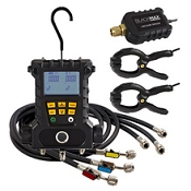 CPS MD50VHE BlackMax 2-Valve Digital Manifold with (2) Clamp Probes, Hoses, and Vac Accessory