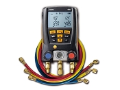Testo 550 Digital Manifold Kit with Bluetooth and Set of 3 Hoses