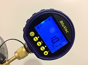 Classic BluVac Digital Micron Gauge with Coupler