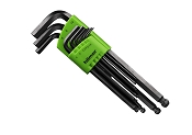Hilmor 1937816 9 PC Hex Key Ball End Set Metric 1.5mm to 10mm