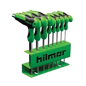 Hilmor 1937817 8 PC T-Handle Hex Key Set Metric 2mm to 10mm