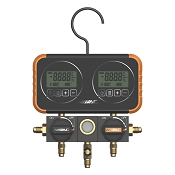 NAVAC N2D4H Manifold Gauge for 22 Refrigerants with Digital Display and 5' Hose Set of 3