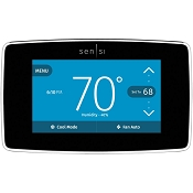 Sensi Pro Smart Thermostat with Touch Screen by Emerson, 5 Year Warranty - Black