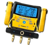 Fieldpiece SMAN360 Digital Manifold with Micron Gauge and Clamps