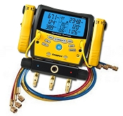 Fieldpiece SMAN360 Digital Manifold with Micron Gauge and Clamps with Hilmor 60