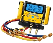 Fieldpiece SMAN360 Digital Manifold with Micron Gauge Clamps and with 60