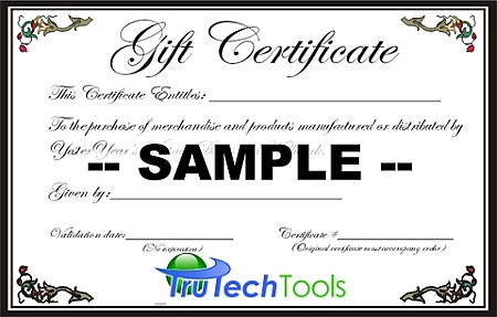 20 Gift Certificate For Use At Trutech Tools