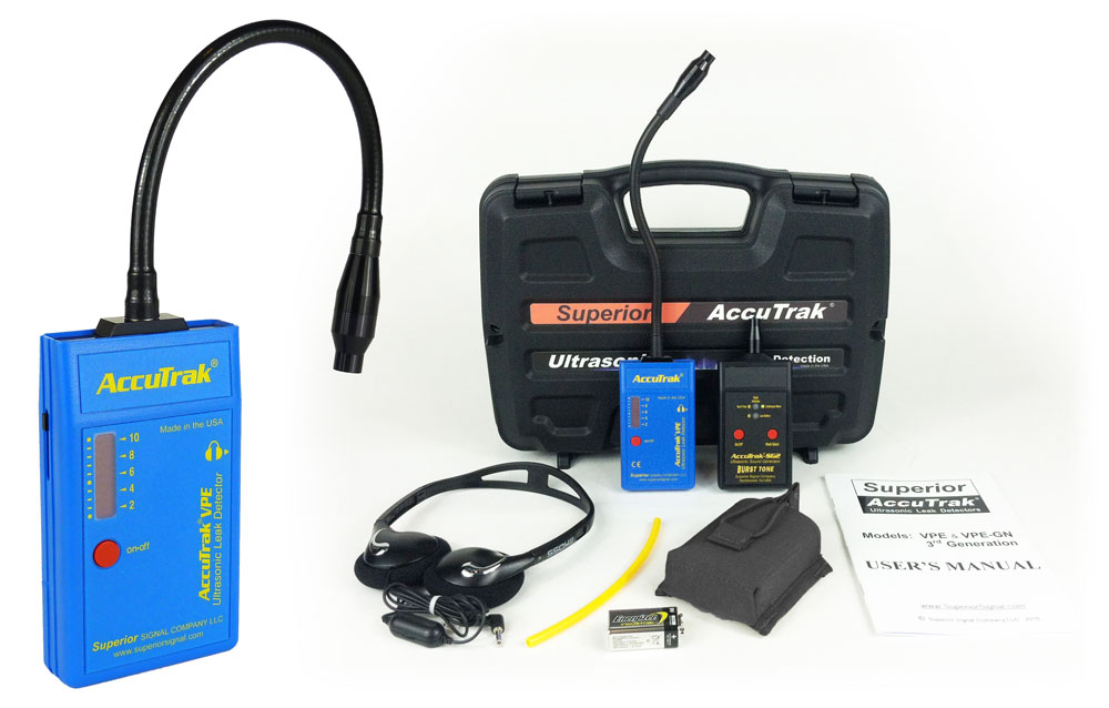 AccuTrak VPE-GN PLUS Gooseneck Ultrasonic Leak Detector Kit with Sound Generator