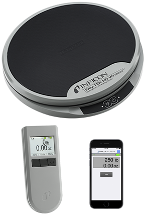 Inficon Wey-TEK HD Wireless Charging Scale (base and handpiece)