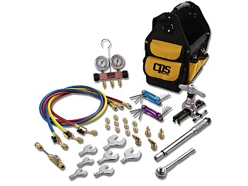 CPS  TLB410SAER-410A Ductless mini-split tool kit with Triple-Seal 2 valve manifold and SAE torque wrench set