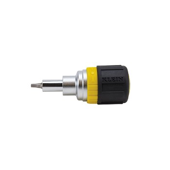 Klein Tools 32594 6-in-1 Stubby Screwdriver Square Recess