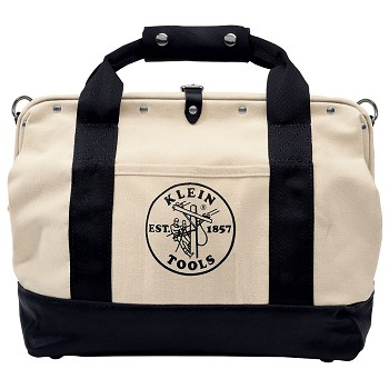 "Klein Tools 5003-18 18"" Canvas Tool Bag with Leather Bottom"