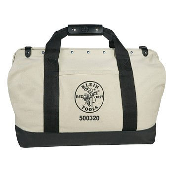 "Klein Tools 5003-20 20"" Canvas Tool Bag with Leather Bottom"