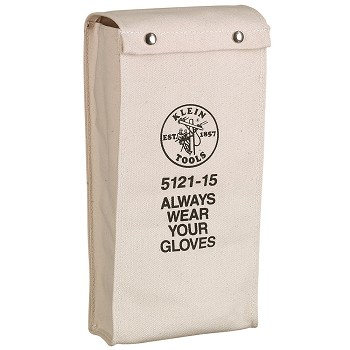 "Klein Tools 5121-19 19"" Glove Bag No. 4 Canvas"