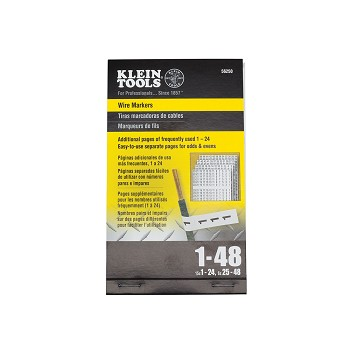 Klein Tools 56250 Wire Markers-Numbers 1-48