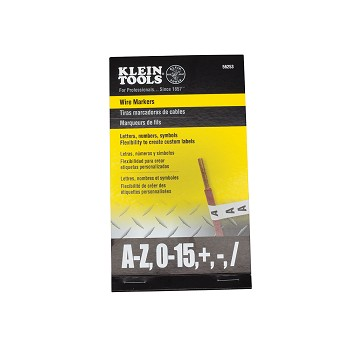 Klein Tools 56253 Wire Markers-Black Letters, Numbers and Symbols