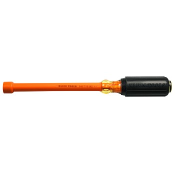 "Klein Tools 646-7/16-INS Insulated 7/16"" Nut Driver Hollow Shaft"