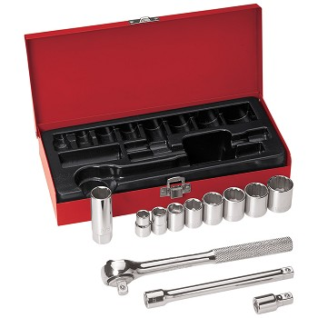 "Klein Tools 65504 3/8"" Drive Socket Wrench Set, 12 Pc"